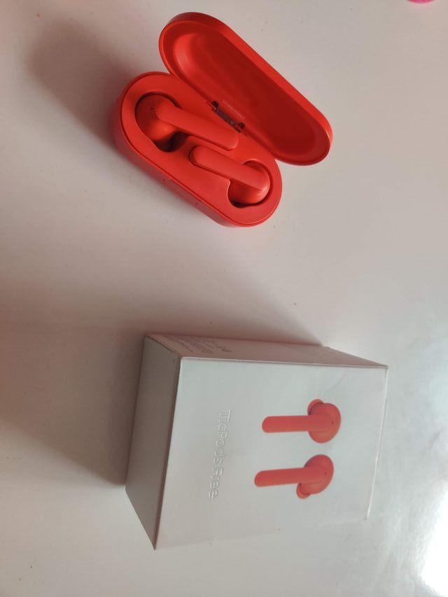 Auriculares Ticpods Free rojo bluetooth