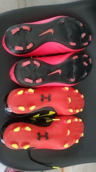 botas futbol (2 pares)