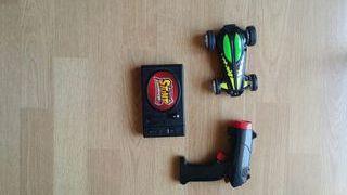 coche reversible. mando a distancia de luz laser