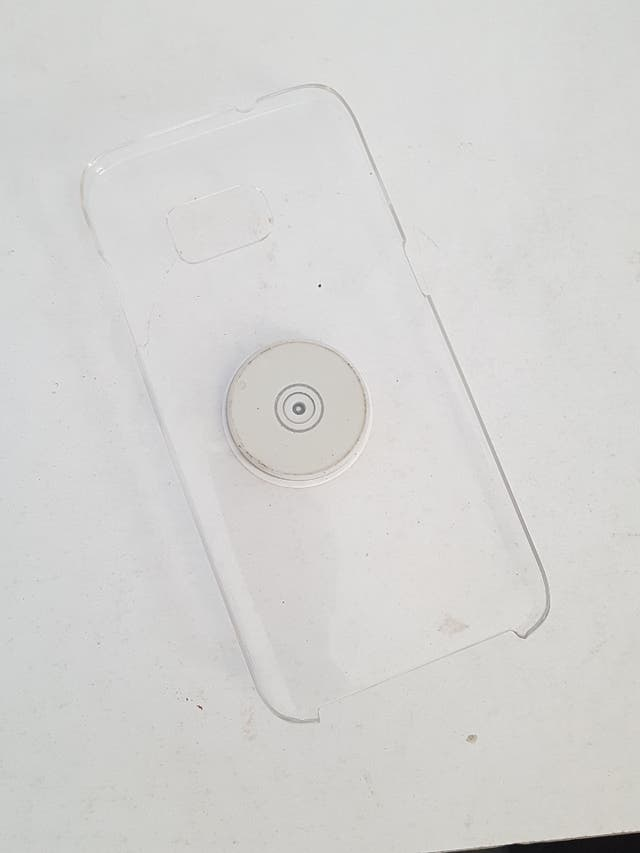 Samsung S7 Edge Clear 360° case with popsocket