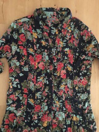 Camisa larga floral