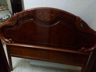 Cabecero de madera nogal cama 135