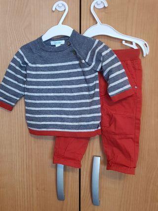 NUEVO! Pantalón y jersey niño Obaïbi talla 6 meses
