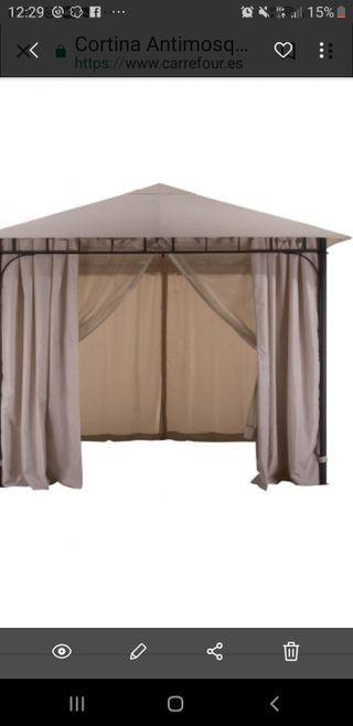 carpa con cortinas y mosquitera