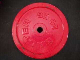 Discos de 15 y 20 Kg, barra de mancuerna