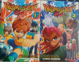 Tomos 1 y 2 del manga Inazuma Eleven Go