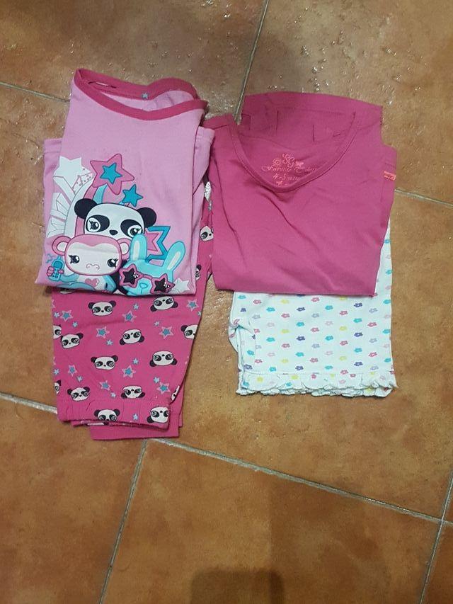 Pijamas niña Talla 5 verano e invierno.