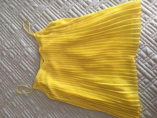REBAJAS!!!Top plisado con vuelo amarillo