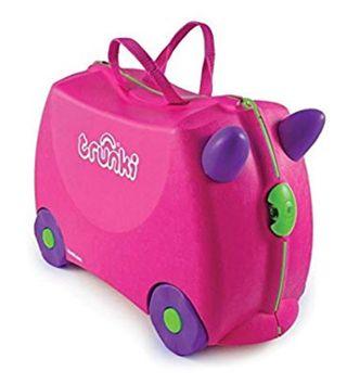 Maleta infantil con rueda color rosa