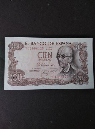 100 pesetas de 1970. SC