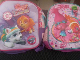 2 maletas para cole infantil