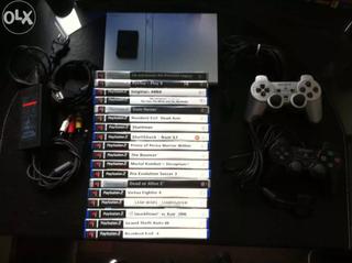 Consola Ps2 y 18 juegos - Sonic Heroes, Stuntman..