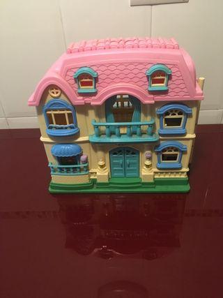 Casa de muñecas con accesorios