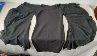 Vestido corto mini elastico negro.