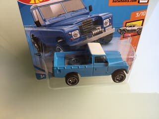 Hot wheels Land Rover Serie III Pickup azul