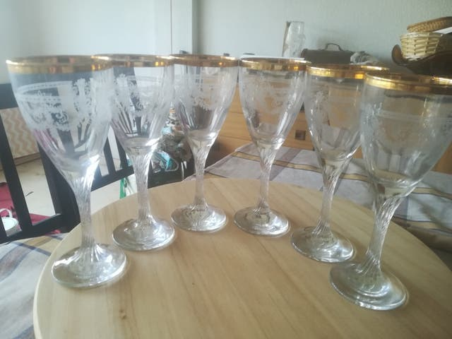 copas de cristal grabadas