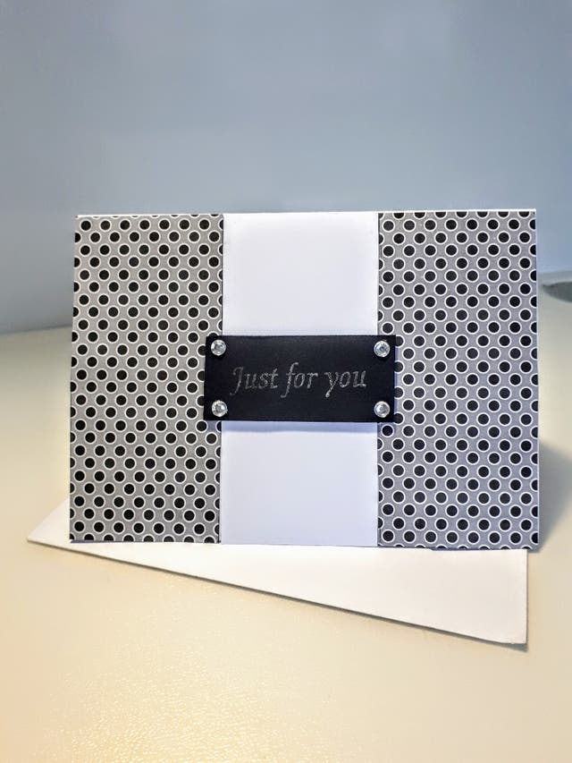 Handmade Greeting Card 'Just For You' PERSONALISED
