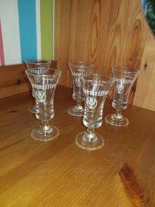 5 vasos chupito Jägermeister originales