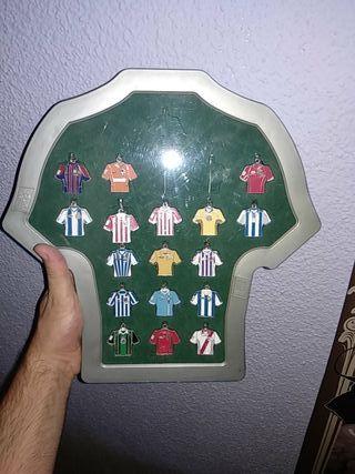 Llaveros de camiseta de equipos de futbol