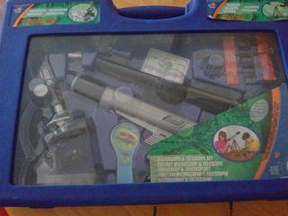 Maletín /Set de telescopio y microscopio