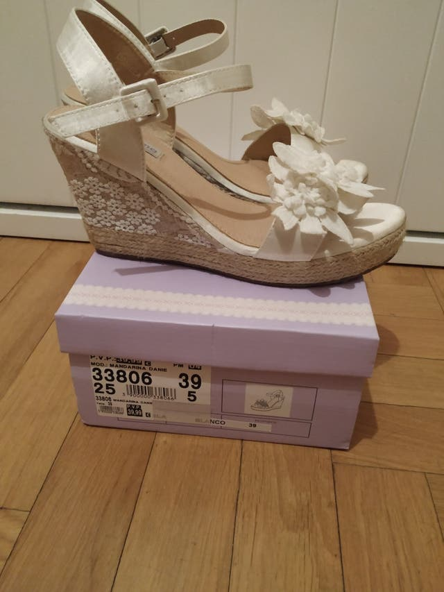 zapato novia cañamo