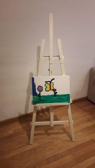 caballete pintura madera