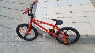 Bicicleta BMX NIÑOS WIPE 320 ROJO