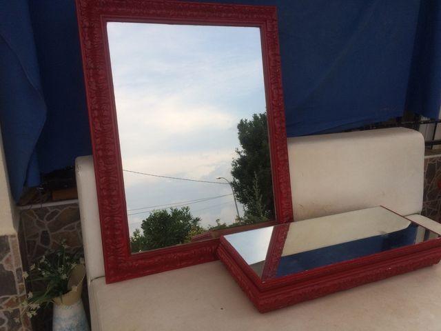 Espejo decorativo con estante separado