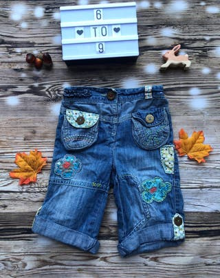 Baby girls patch work jeans 6-9mths