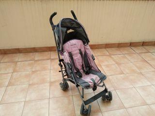 carrito maclaren rosa/gris.