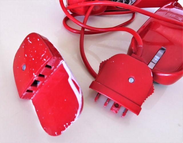 Teléfono rojo Heraldo y Góndola Citesa vintage