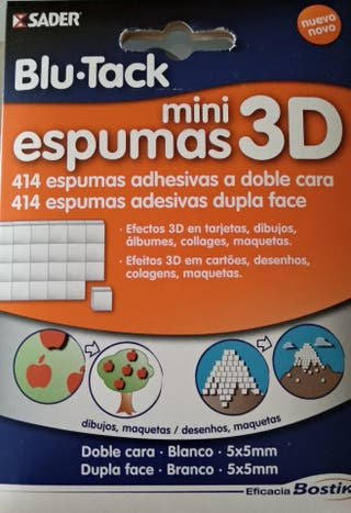 Mini espumas 3d a doble cara