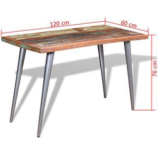 vidaXL Mesa de comedor madera maciza 244242