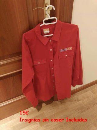 camisa pioneros scouts msc