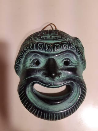 Máscara y Flor solar griegas