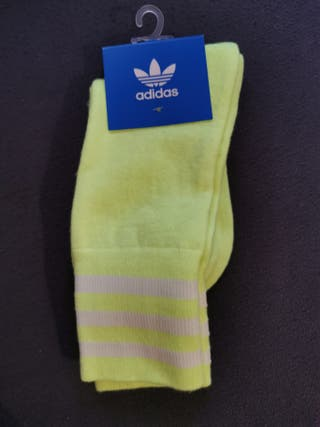 chaussettes adidas jaune fluo