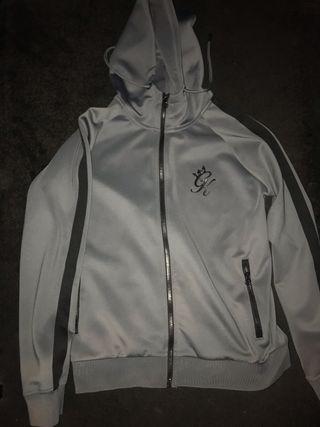 Men's grey gym king tracksuit jacket