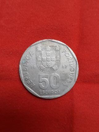 Monedas antiguas Portugas, Francia y Alemania.