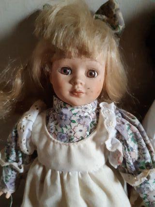 muñecas vintage de porcelana
