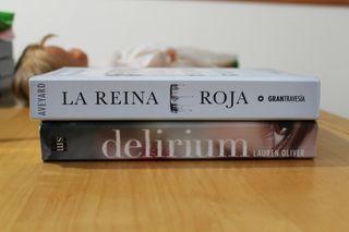 Libros: La reina roja y Delirium