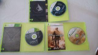 3 videojuegos xbox 360.