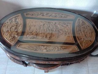 Mesa China de madera tallada