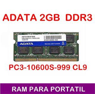 1X2GB DDR3 RAM PORTATIL PC3-10600S-999 CL9