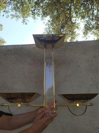 lámpara halogena y plafon