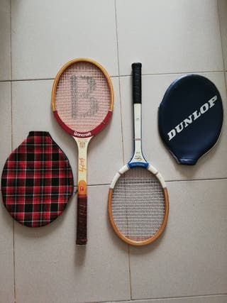 raquetas antiguas de tenis