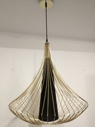 Lámpara techo marca IXIA negro/oro