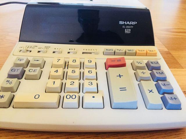 Calculadora de impresión SHARP EL-2607P