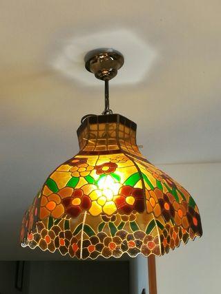 lampara sostre TIFANY vidre emplomat estil Tiffany