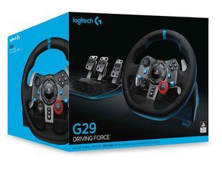 Logitech G29 + swifter H + pedales.