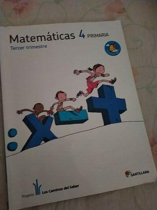 libro matemáticas cuarto de primaria 3 trimestre